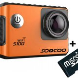 Camera Video Sport 4K iUni Dare S100 Orange, WiFi, GPS, mini HDMI, 2 inch LCD + Card MicroSD 16GB Ca